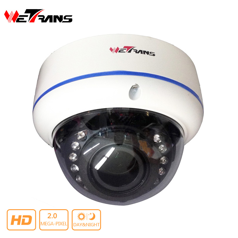 ФОТО CCTV Camera Dome HD 2.0Megapixel Full HD 10m Night Vision 15 LEDS 2.8-12mm Varifocal Lens HD TVI HDCVI AHD Camera Vandalproof