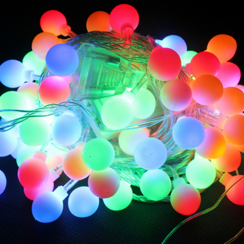 10 Meter Lamp Ed String Ball Bulb Pendant Lights Color Holiday Decoration Christmas Lights European Courtyard Party Decoration