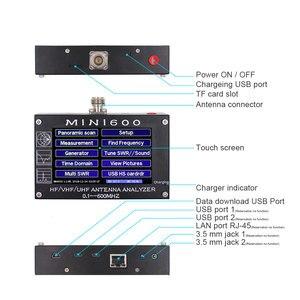 """Image 5 - アンテナカウンター MINI600 HF/VHF/UHF アンテナテスターミニ 600 周波数 0.1 600 4.3 """"TFT 液晶タッチスクリーンアンテナ · アナライザ"""