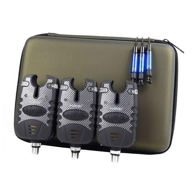 1 Set alarme de pêche et LED à fil étanche ensemble lancer canne à mer morsure crochet alarmes wibaners G6KF