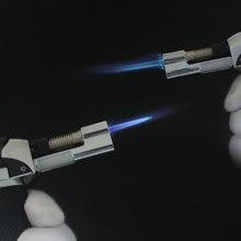 цена на Outdoor BBQ Torch Turbo Cigar Lighter Spray Gun Jet Butane Lighter For Kitchen Fire Windproof Lighter No Gas  gun lighter