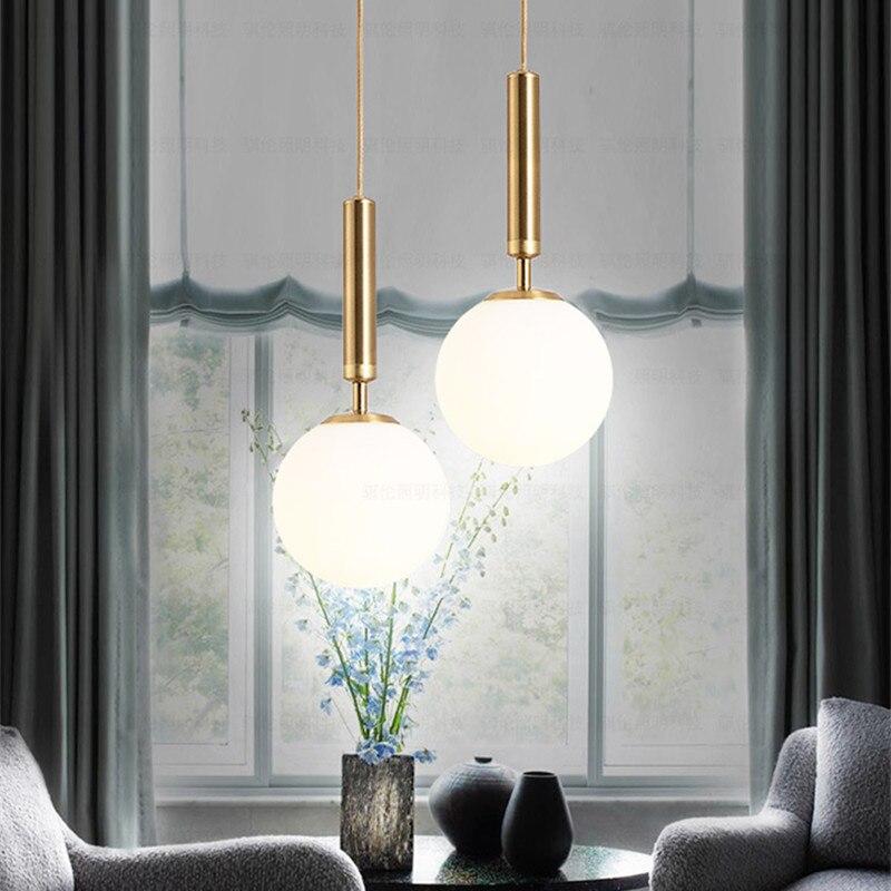 Прикроватная светодиодная люстра для спальни в скандинавском стиле, модные Волшебные фасоли, золотые люстры для кафе, подвесные светильник