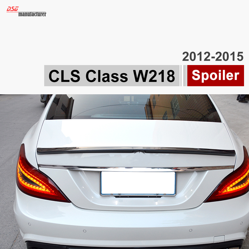 Mercedes W218 Carbon Fiber Trunk Spoiler Car Wing for Benz 2012 - IN CLS Class Vehicles CLS350 mercedes carbon fiber trunk amg style spoiler fit for benz e class w207 2 door 2010 2015 coupe convertible vehicles