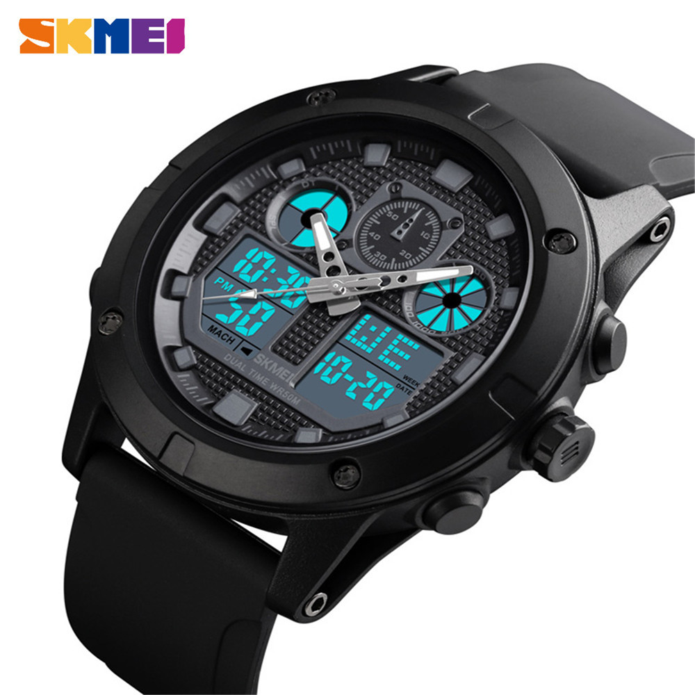 <font><b>SKMEI</b></font> Men Sport Watch Digital Wristwatches Military Waterproof Chronograph Dual Display Wristwatch Clock Relogio Masculino1514 image