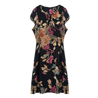 100% Natural Silk Fabric Dress Woman Vintage Womens Floral Summer Dresses Desigual Beach Dresses Ukraine Vestidos Befree