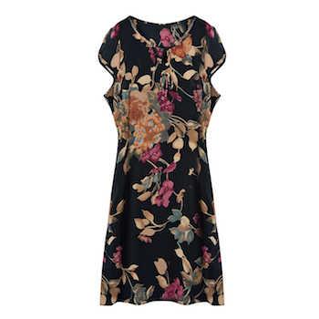 47630f53038 100% натуральный шелк ткань платье женщина Винтаж женские Цветочные Летние  Платья Desigual пляжные Украина Vestidos