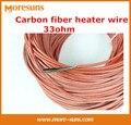 20 м Углеродного волокна электрический нагреватель провода/электрическое одеяло провода обогреватели, силиконовая резина углеродного волокна 33ohm пол с подогревом провода