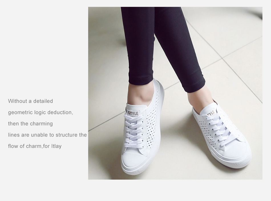 Donna-in 2019 New Women Flats Sneakers Genuine Leather Shoes Lace-up Cut-outs Flat Casual Women Shoes Hollow Summer Black White (5)