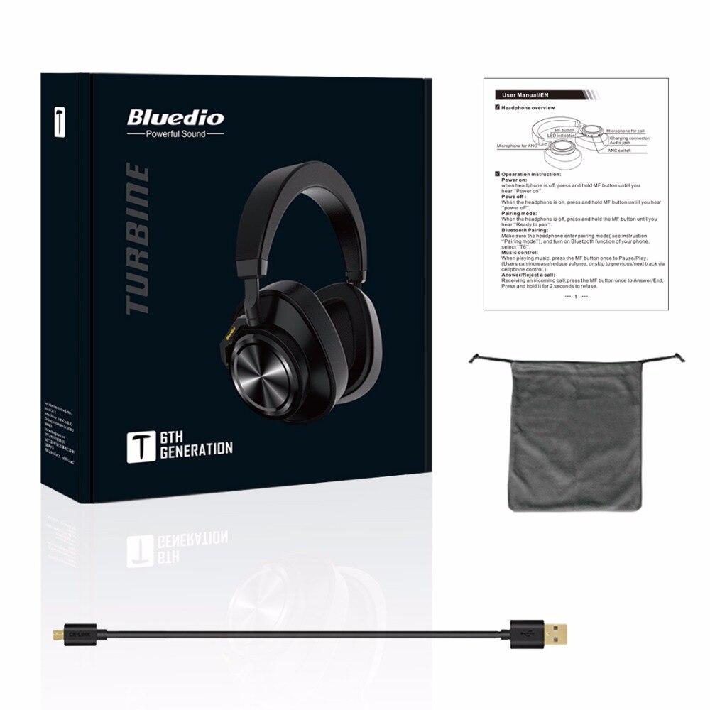 Image 5 - Bluedio T6 активный Шум шумоподавления наушники Беспроводной Bluetooth гарнитура с микрофоном для телефонов и музыкаНаушники и гарнитуры   -