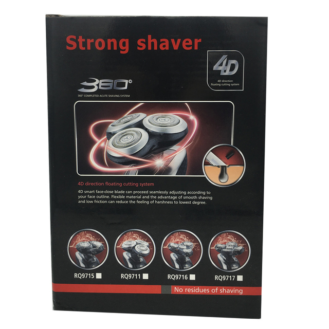3 Head Shaver For Men 2016 New Brand Men's Electric Shaver Rechargeable Shaver Head Shaving Machine RQ9711