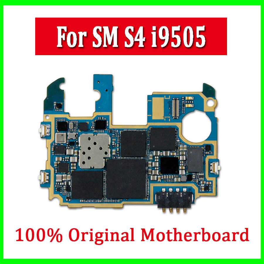 100% Original Entsperrt für Samsung Galaxy S4 i9505 Motherboard mit Android System, Europa Version für S4 i9505 Logic Boards