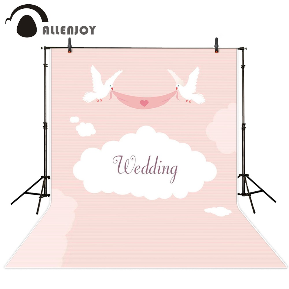 Allenjoy photocall wedding background photography studio Valentine love wings custom size backdrops wedding for studio allenjoy photography backdrops love pink romantic background photography wedding backdrop for valentine s day