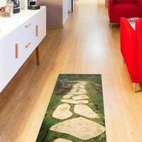 Stone road pattern PVC floor sticker Kitchen Study Room waterproof non slip wear resistant floor sticker fashion Home decoration