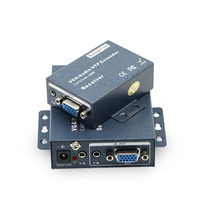 VGA extender, 100M, 2 receiver, single cable extension, vga rj45 extender, lightning protection