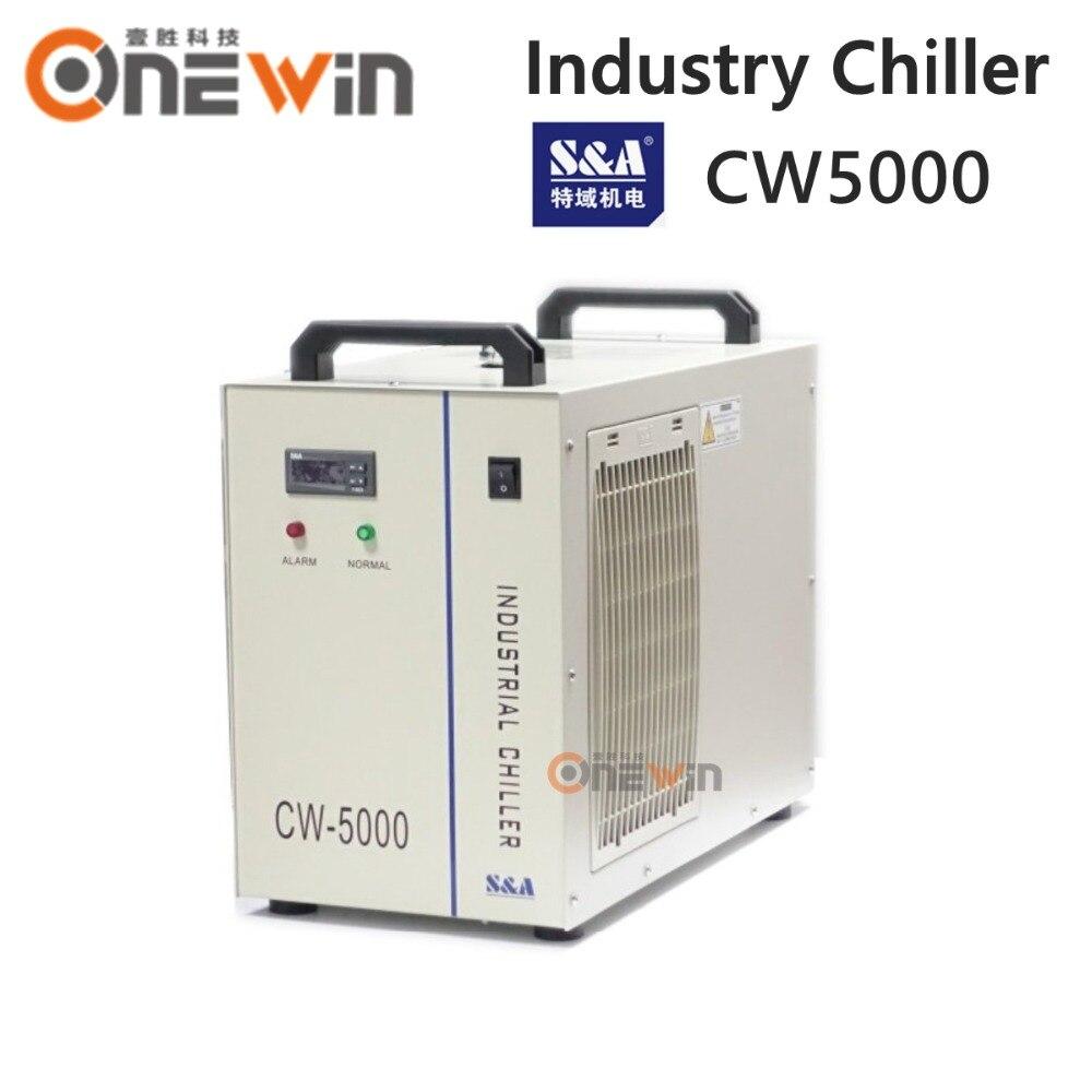 چیلر آب صنعت S&A CW5000 برای خنک کردن لوله لیزری 80W 100W CO2
