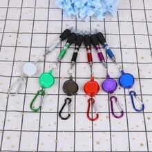 1 шт. выдвижной Бейдж Катушка Ручка Зажим для ремня и карабин брелок шариковая ручка