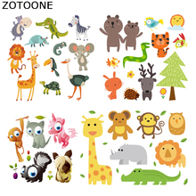 ZOTOONE cartoon animals Iron on Transfer Patches Clothing Diy Patch Heat for Clothes Decoration Sticker Accessorie E