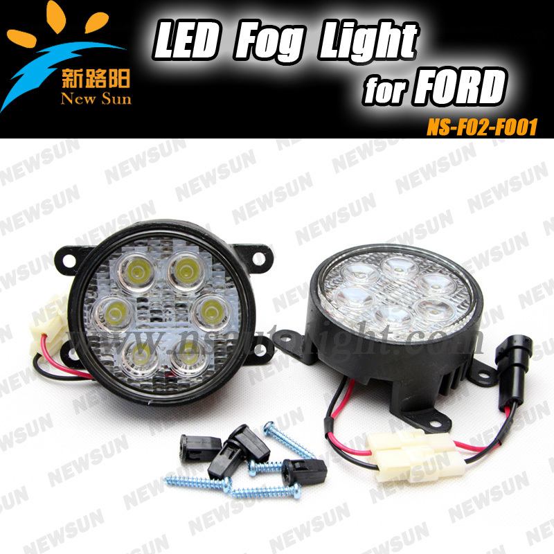 Automotive accessories car front fog lights for Ford 18W 6pcs*3w led fog light daytime running light for Peugeot fog lamps fog lights for mitsubishi pajero sport 2008 2015 1 set 2 pcs car accessories styling car decoration automotive front light