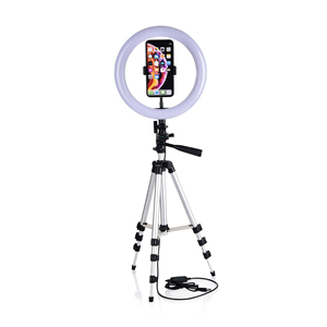 Image 5 - Selfie Video LED Ring Light Portable Photography Dimmable Lamp with Tripod Phone Holder for iPhone 11 12 Pro Max XS Galaxy Plus