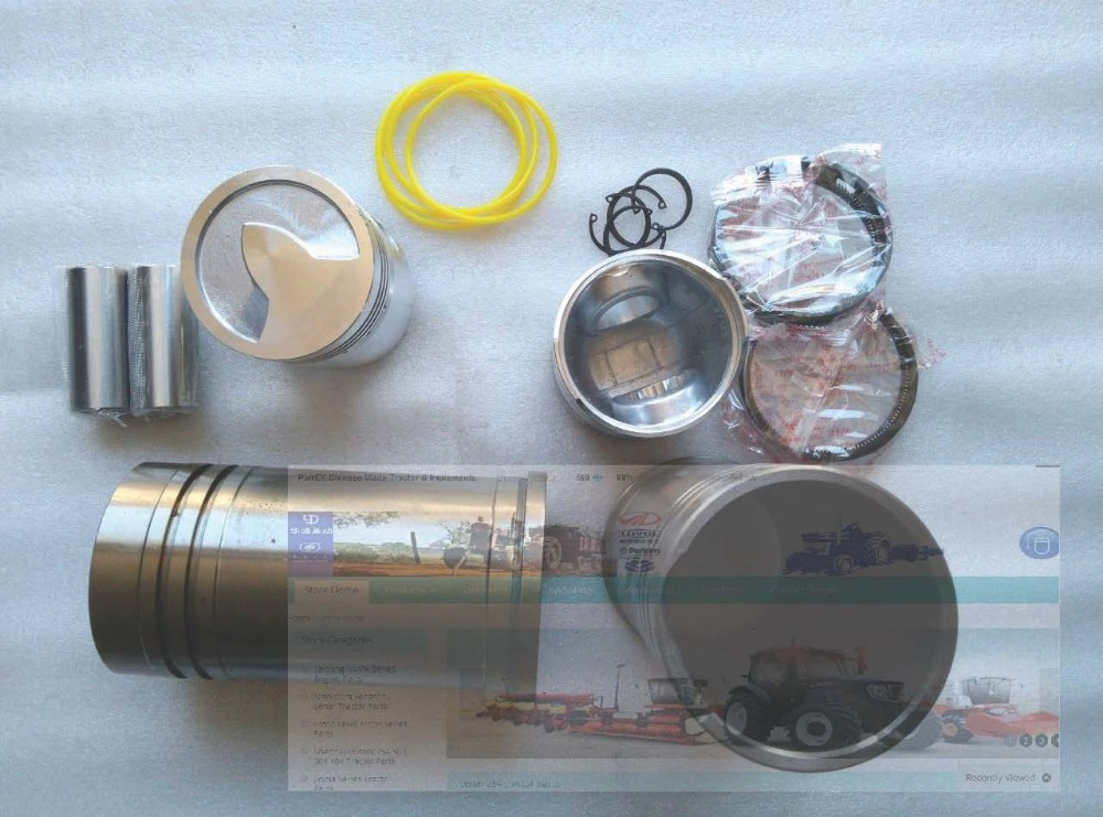 Taishan TS250 254 tractor with FD295T engine, the set of piston, piston pin, piston rings, circlip, liner and water sealing ring parts for changchai zn490q engine gasket piston rings cylinder liner main bearings water temp sender water pump pistons