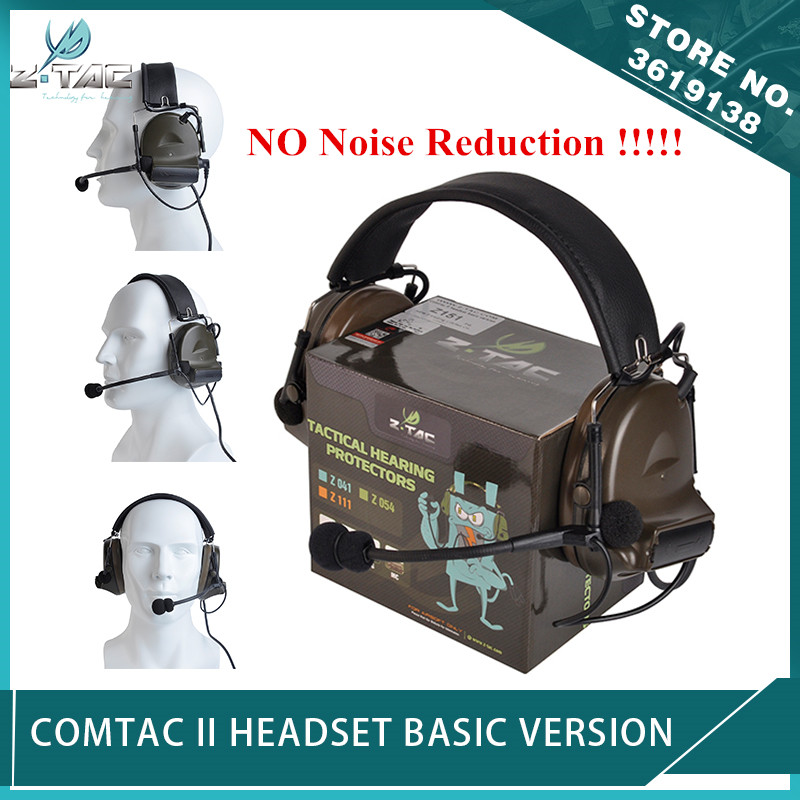 New Z Tactical Softair Comtac II Peltor Headset No Noise Reduction Function Communication Comtac 2 Headphone