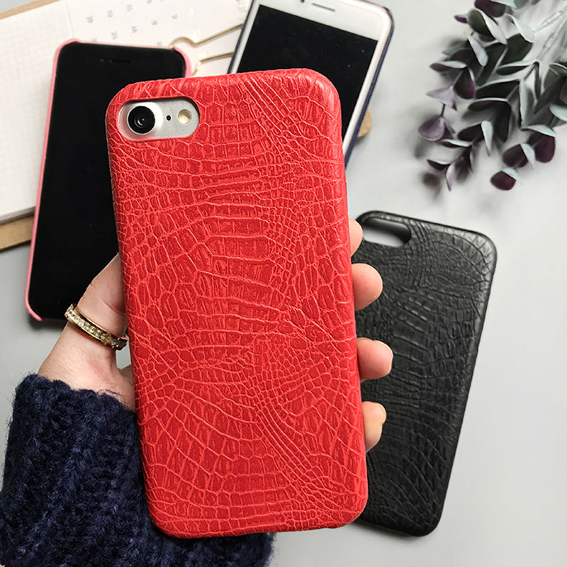 LOVECOM Case For iPhone 5 5S SE 6 6S 7 8 Plus X Colorful Alligator Pattern Soft Leather CROCO Phone Case Back Cover Housing NEW