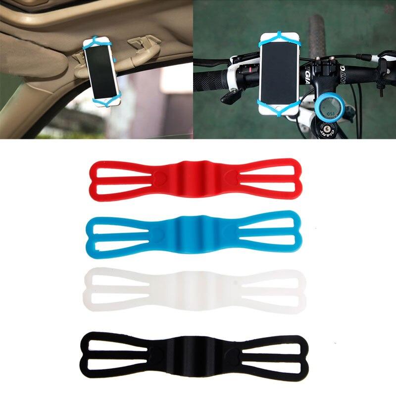 Cycling Bike Bicycle Silicone Elastic Strap Bandage Fixed Holder Fr Mobile Phone