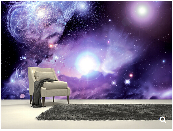 Custom Star Universe wallpaper,Fantasy Space Nebula,3D modern mural for living room backdrop bedroom hotel Vinyl wallpaper