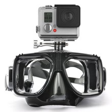 Professional underwater Scuba Diving Mask For Gopro hero4 sj4000Xiaoyi 4k Tempered Glass Snorkeling Equipment camera accessories