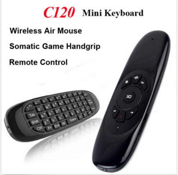 20PCS C120 Air Mouse 2.4GHz G Mouse II Remote T10 Rechargeable Wireless Fly Air Mouse Keyboard for Android Google TV BOX
