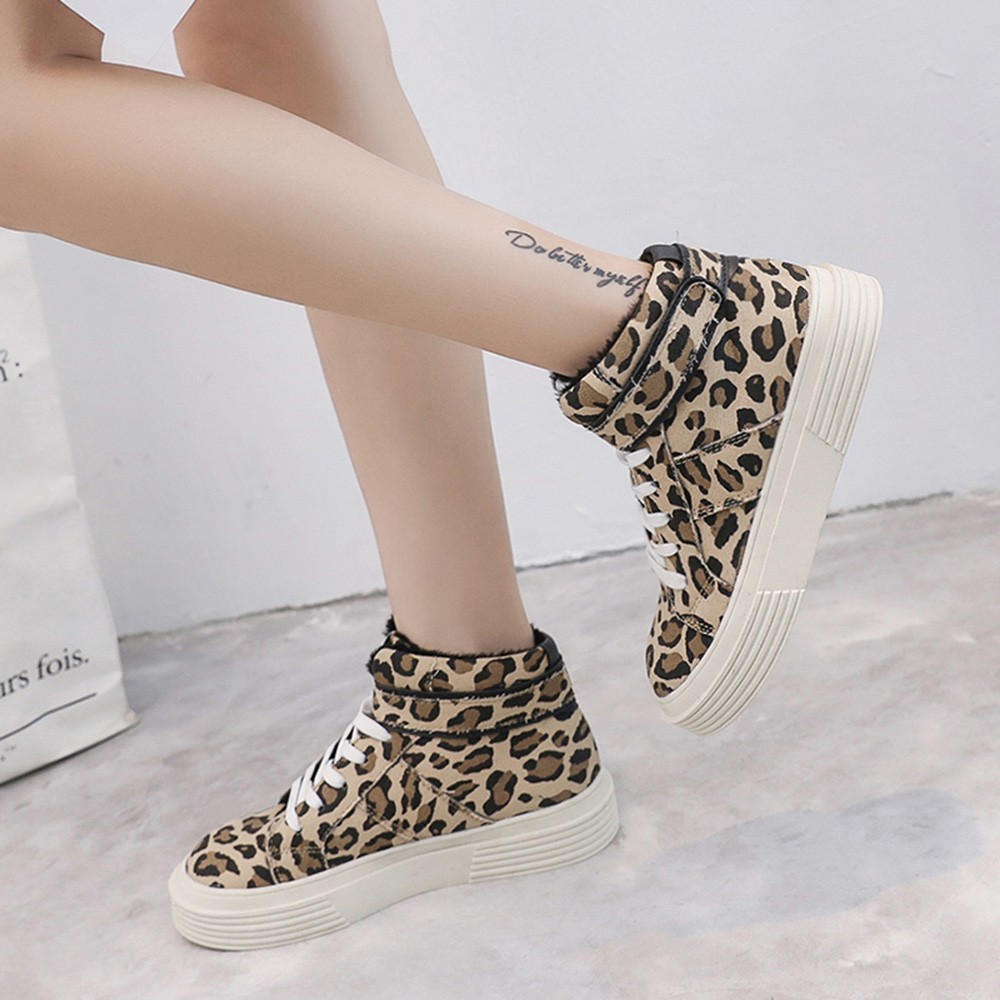 Women-Fashion-Leopard-Thick-Canvas-Flat-Short-Boots-Round-Toe-Casual-Shoes-Fashion-Simple-shoes-woman(2)