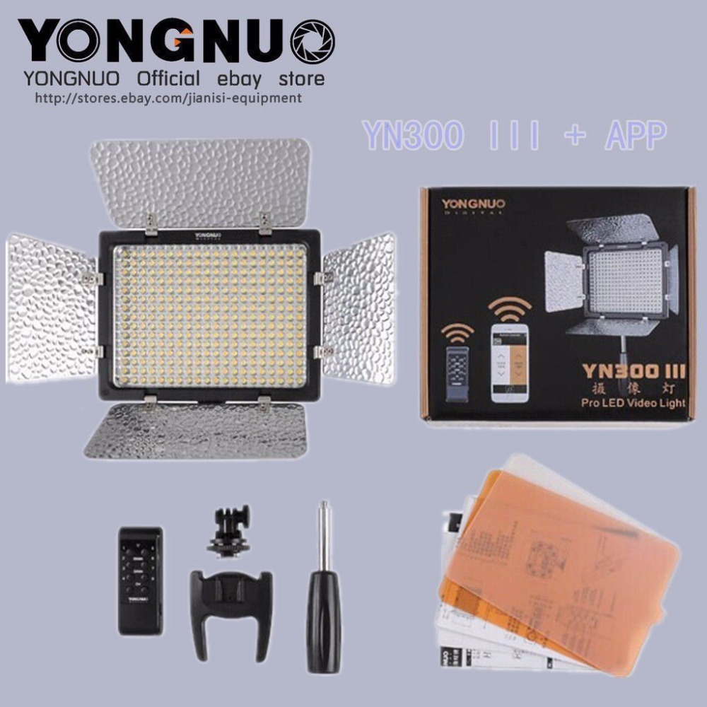 Yongnuo YN-300 III YN300 III Pro LED Video Studio Light Control for Canon Nikon