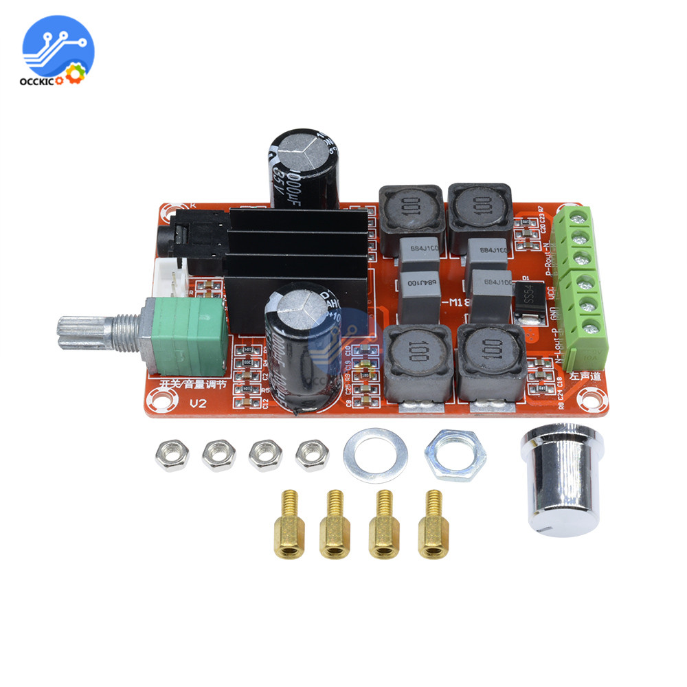 TPA3116D2 Digital Amplifier Board Class D Dual Channel 2*50W 2X50W DC5-24V Audio Stereo Sound Board Speaker Volume Control