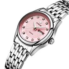 Marca de Lujo de Las Mujeres Relojes Señoras Reloj De Cuarzo Ocasional Reloj de Plata Femenina Pulsera de Acero Inoxidable Reloj de Vestir relogio feminino