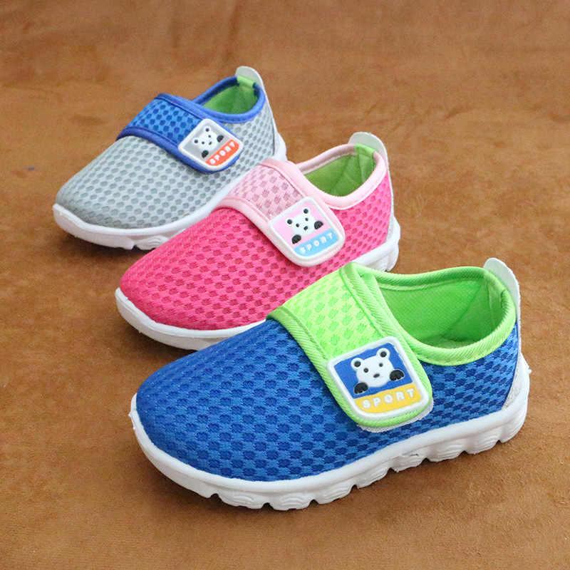 אביב אופנה ילדי נעליים מזדמנים רשת נעלי ספורט עבור בנות מאמן בני Tenis ילדים אופנה דירות נוח תינוק בד נעליים