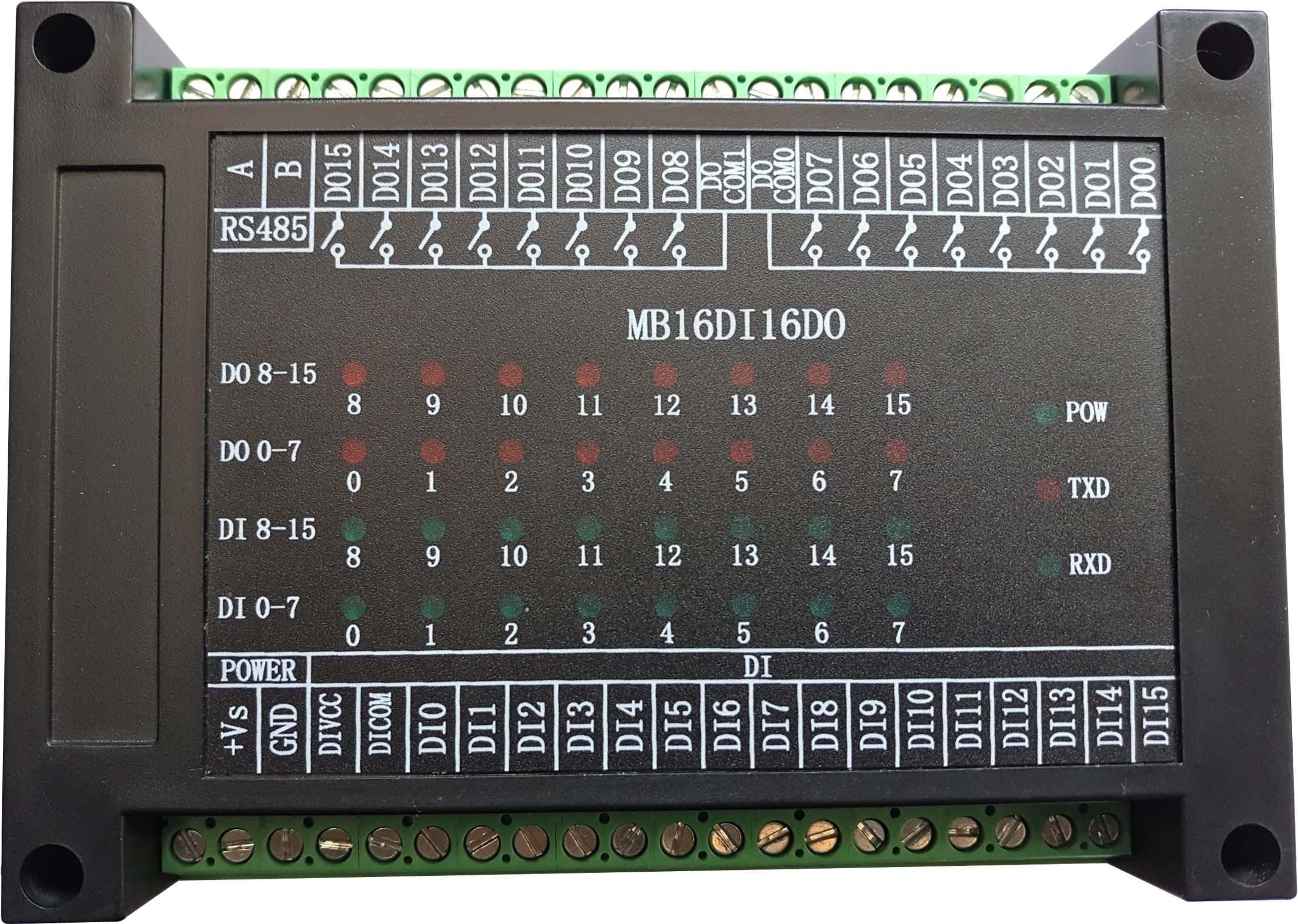 Schakelaar Input en Output 16 Kanaals Open in 16 Kanaals Relais Uitgang Module RS485 MODBUS RTU Communicatie-in Air conditioner onderdelen van Huishoudelijk Apparatuur op  Groep 1