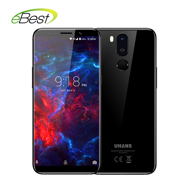 UHANS I8 Pro Smartphone 5.7 inch 18:9 HD Display 6GB RAM 64GB MT6763 Octa Core Android7.0 3500mAh 16MP Fingerprint Mobile Phone