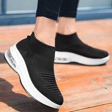 Кроссовки; женская обувь на плоской подошве; летняя дышащая повседневная обувь; женская обувь на толстой подошве без застежки; мокасины; женская обувь;#4