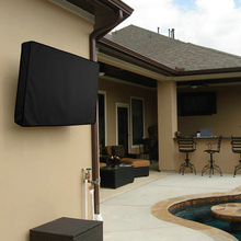 New! Outdoor TV Screen Dust Cover Black LCD Television Set W