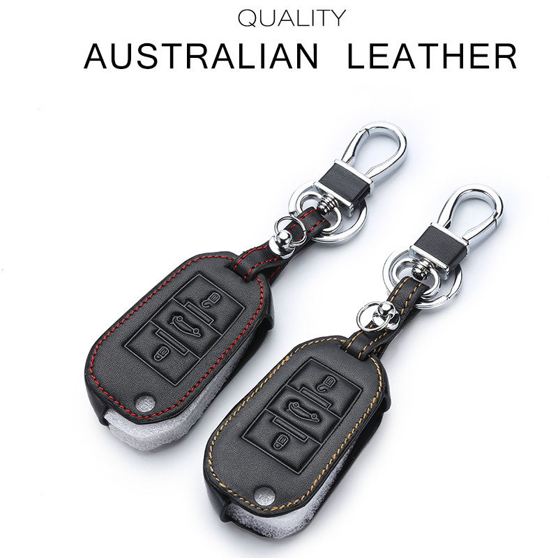 Leather <font><b>Key</b></font> Case For Car 3 Buttons For <font><b>Peugeot</b></font> <font><b>508</b></font> Car <font><b>Key</b></font> <font><b>Cover</b></font> With Keychain <font><b>Key</b></font> Portect image
