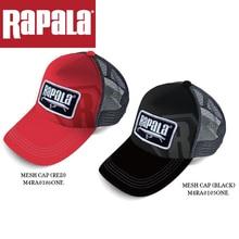 Rapala брендовая мужская и женская сетчатая кепка и RAPPW09 черная/красная уличная спортивная Кепка с козырьком, бейсболка для гольфа, регулируемая летняя шапка, рыболовная снасть