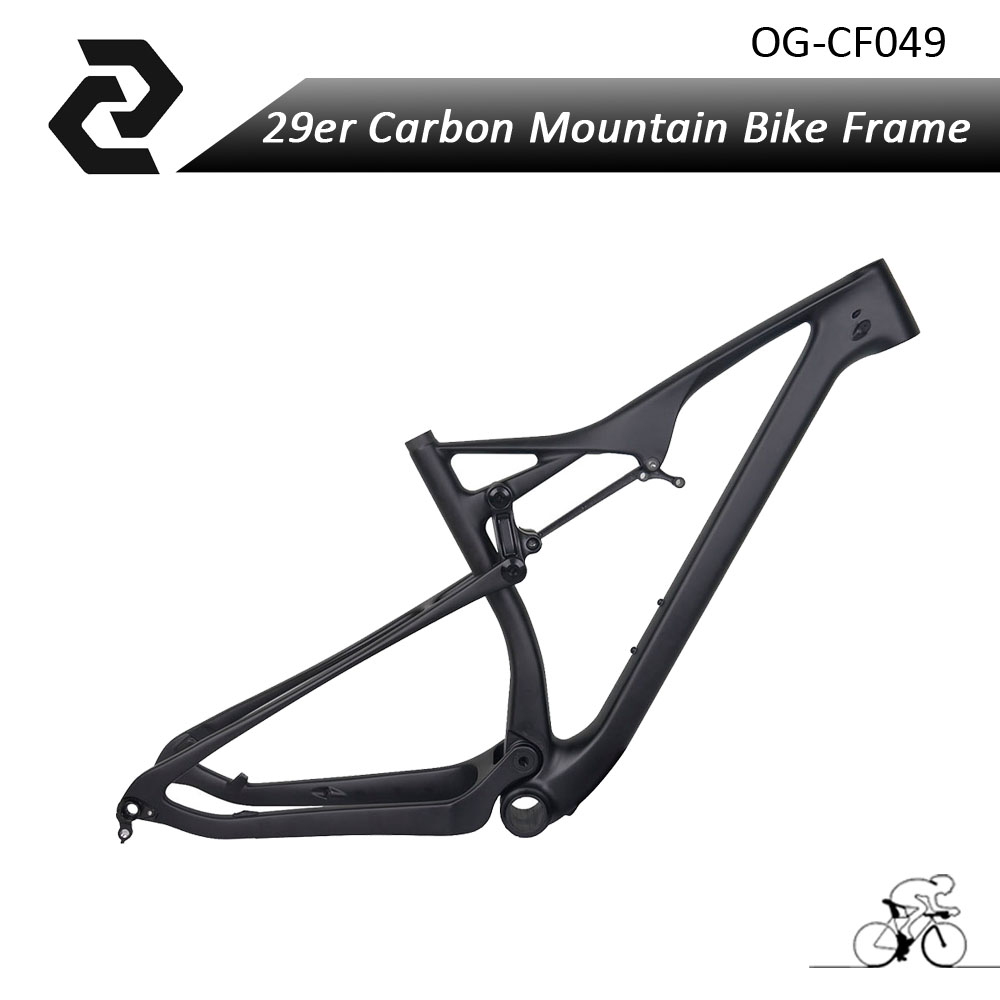 Free Shipping OG-EVKIN 29er Suspension Bicycle Full Toray Carbon Mountain Bike Shock Cycling Frame BB92 UD Matte for Thru-axle rockbros titanium ti pedal spindle axle quick release for brompton folding bike bicycle bike parts