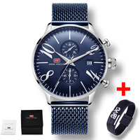 Hot Dropship Synchronized Multi Function Chronograph Stainless Steel Watches Men Fashion Casual Sports Men Wrist Watch