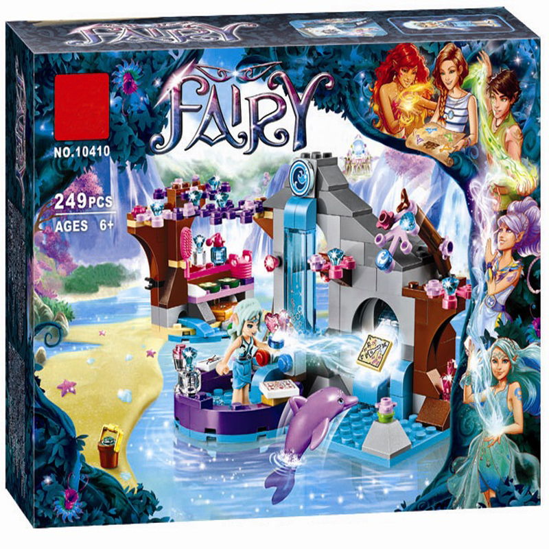 BELA 10410 Girl Naida Secret Spa Fairy Elves Building Blocks Set Toys Compatible LegoINGly Friends 41072 for girl best gift 10548 elves the precious crystal mine building block set naida farran figures baby dragon toys for children compatible 41177