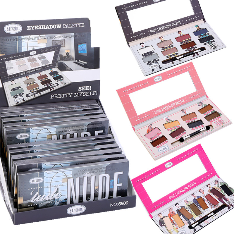 цены Matte Eye Shadow 8 Colors Eyeshadow Palette Shimmer Waterproof Long-lasting Makeup Eyes Shadows Nude Make Up Eyeshadow Pallete