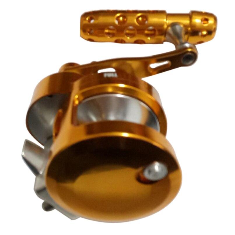 Full Metal Jigging Reel 2 Velocità 4.5: 1/2. 1:1 Traina Mulinello Da Pesca 30kgs Potere di Trascinamento Profondo Mare Salata barca Bobina di destra