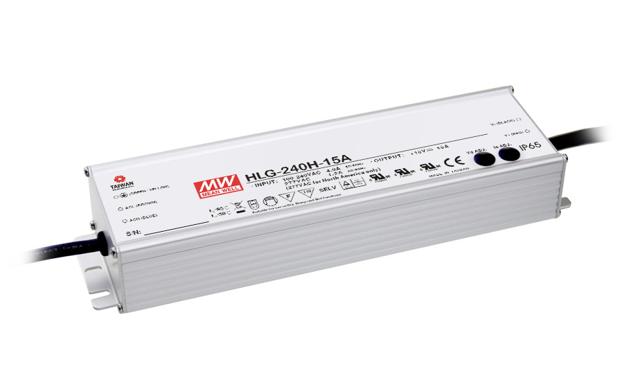 1MEAN WELL original HLG-240H-20A 20V 12A meanwell HLG-240H 20V 240W Single Output LED Driver Power Supply A type