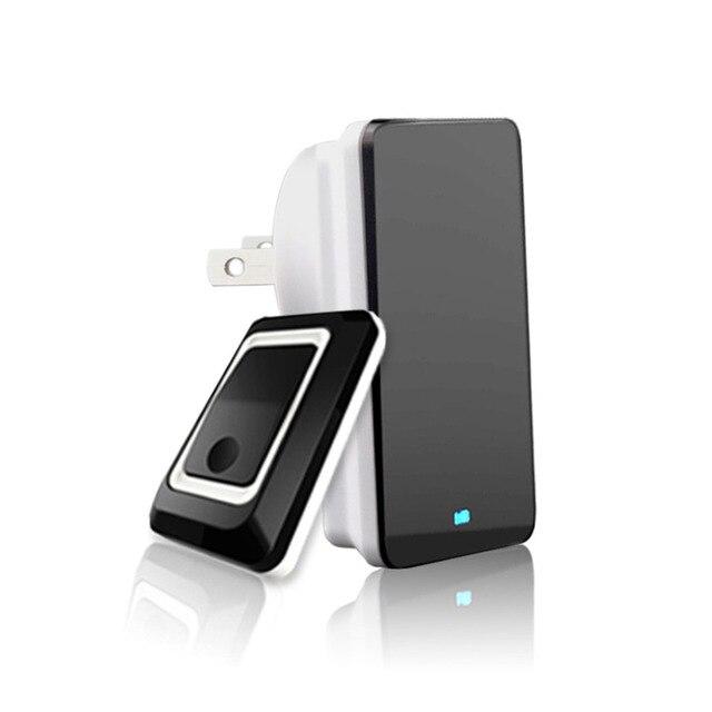 2017 New Durable Home Wireless Door Bell Doorbell Energy Saving Adjustable Sound Volume Door Bell Black US/EU/UK Plug Quality