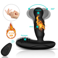 360 Rotate Heating Anal Plug Vibrator Butt Plug Prostate Massage Double Motors Anal Toys for Men Remote Control Sex Products*