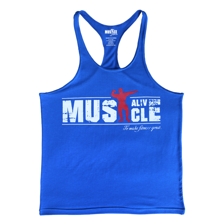 Bodybuilding Tank Top Heren Gyms-kleding Stringer Fitness Gyms Shirt - Herenkleding - Foto 3